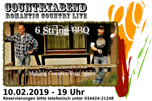 Countryabend Livemusik 10.02.2019 Elsteraue