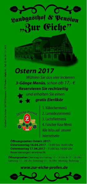 Ostern, 2017, Mittagstisch, Festmenü, Lammbraten, Elsteraue, Freisitz