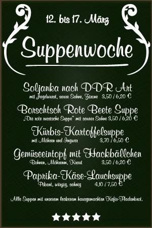 Suppenwoche, Suppenfasten - Elsteraue, Pegau, Groitzsch, Zeitz