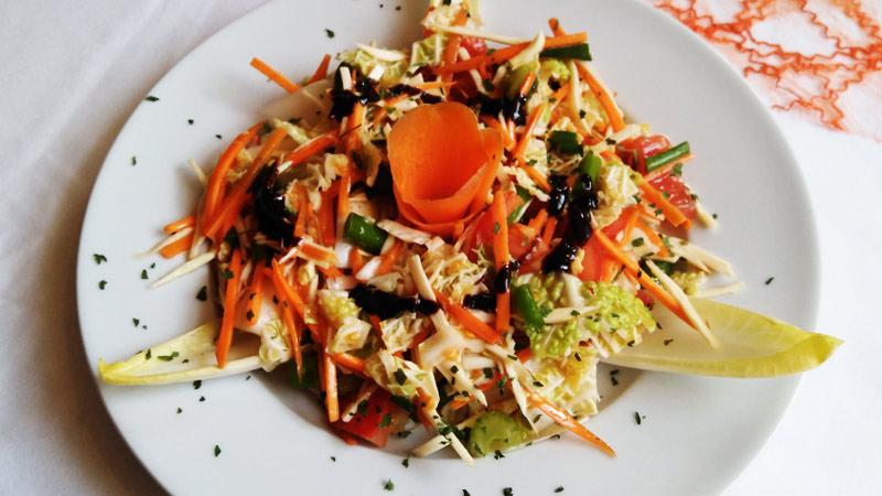 Kleiner Salat, Wintersalat, Elsteraue, Gaststätte, Restaurant, slawische Küche