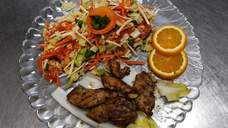 Salatplatte, Wintersalat, Elsteraue, Gaststätte, Restaurant, Zur Eiche