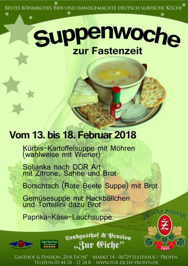 Suppenwoche, Fastenzeit, Karneval, Zeitz, Umgebung, Elsteraue