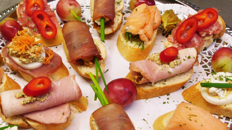Partyservice, Catering, Ausser Haus, Buffet, Canapés, Fingerfood