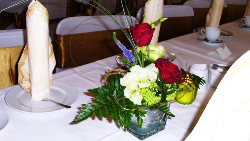 Hochzeit, Goldene Hochzeit, Silberne Hochzeit, feiern, Saal, Buffet, Dekoration, Catering